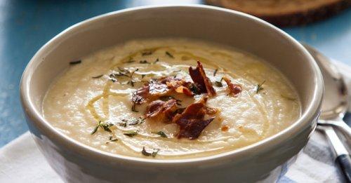 Celeriac & bacon soup