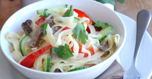 Cold beef noodle salad