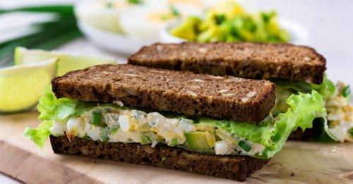 Tangy egg & avo sandwich