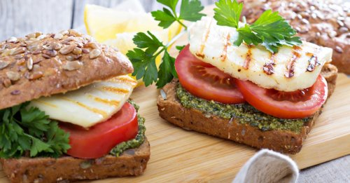 Haloumi & pesto sandwich
