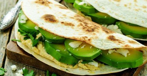 Hummus & avocado quesadillas