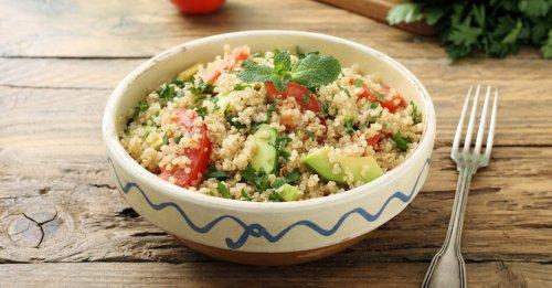 Amaranth & avocado salad