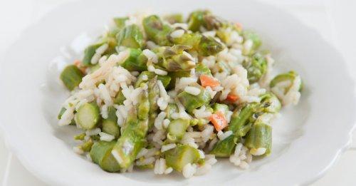Salmon & asparagus risotto